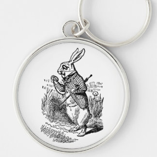 Vintage Alice in Wonderland the White Rabbit Watch Keychain