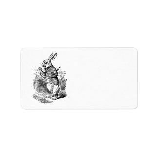 Vintage Alice in Wonderland the White Rabbit Watch Label