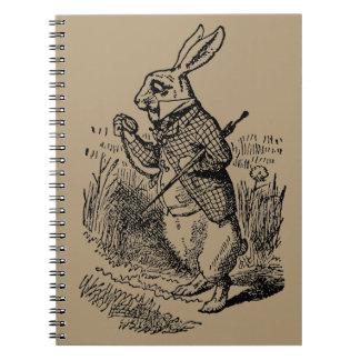 Vintage Alice in Wonderland the White Rabbit Watch Notebook