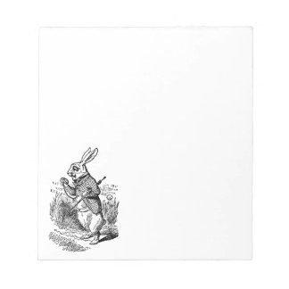 Vintage Alice in Wonderland the White Rabbit Watch Notepad
