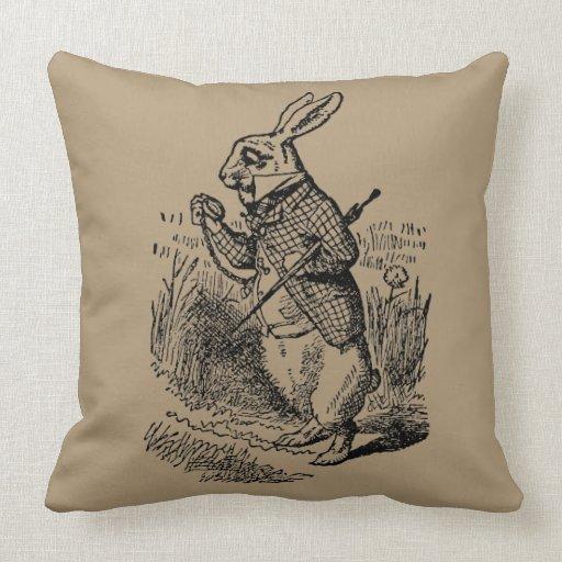 vintage alice in wonderland the white rabbit watch pillow
