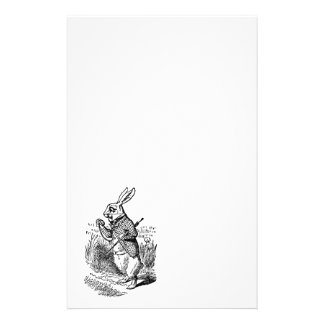 Vintage Alice in Wonderland the White Rabbit Watch Personalized Stationery