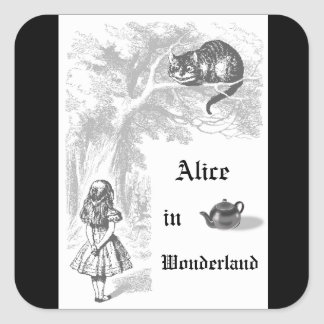 Vintage Alice in Wonderland Themed Party Sticker