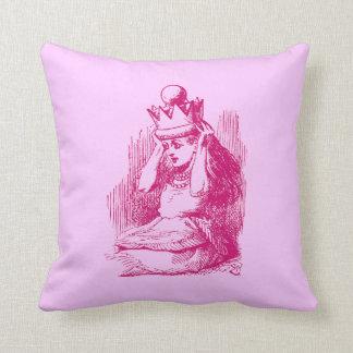 Vintage Alice in Wonderland Throw Pillow