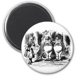Vintage Alice in Wonderland, Tweedledum Tweedledee Magnet
