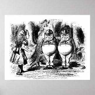 Vintage Alice in Wonderland, Tweedledum Tweedledee Posters