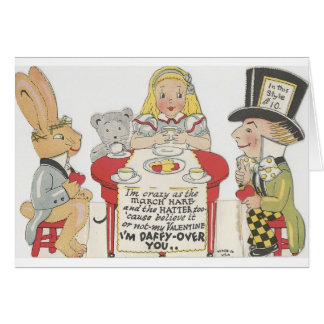 Vintage Alice In Wonderland Valentine Card
