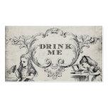 Vintage Alice in Wonderland Wedding Drink Cards