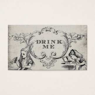 Vintage Alice in Wonderland Wedding Drink Cards