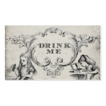 Vintage Alice in Wonderland Wedding Drink Cards Double-Sided Standard Business Cards (Pack Of 100)