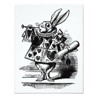 Vintage Alice in Wonderland White Rabbit as Herald Card