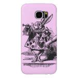 Vintage Alice in Wonderland White Rabbit as Herald Samsung Galaxy S6 Cases