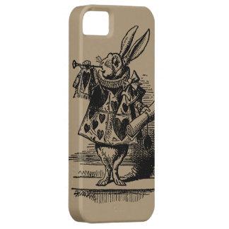 Vintage Alice in Wonderland White Rabbit as Herald iPhone 5 Case