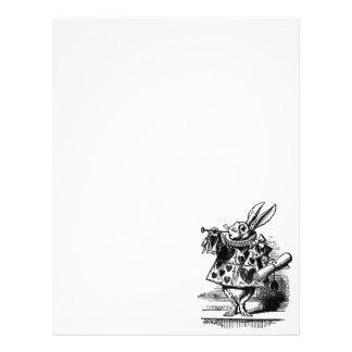 """Vintage Alice in Wonderland White Rabbit as Herald 8.5"""" X 11"""" Flyer"""