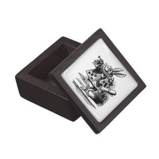Vintage Alice in Wonderland White Rabbit as Herald Jewelry Box
