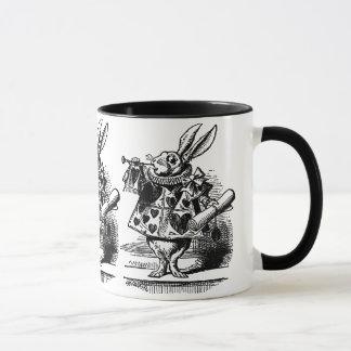 Vintage Alice in Wonderland White Rabbit as Herald Mug