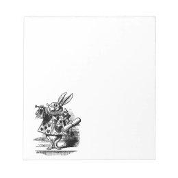 Vintage Alice in Wonderland White Rabbit as Herald Notepad