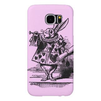 Vintage Alice in Wonderland White Rabbit as Herald Samsung Galaxy S6 Case