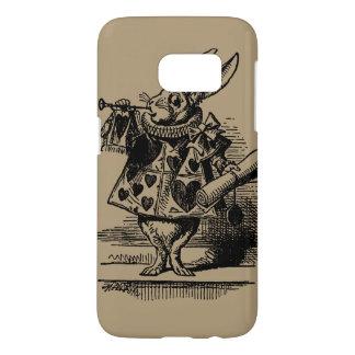 Vintage Alice in Wonderland White Rabbit as Herald Samsung Galaxy S7 Case