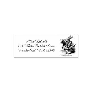 Vintage Alice in Wonderland White Rabbit as Herald Self-inking Stamp