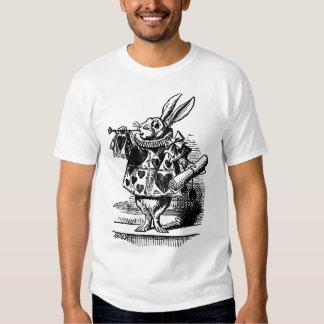 Vintage Alice in Wonderland White Rabbit as Herald Tee Shirt