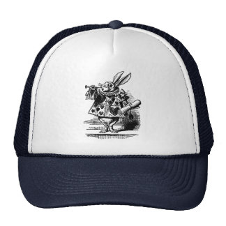 Vintage Alice in Wonderland White Rabbit as Herald Trucker Hat