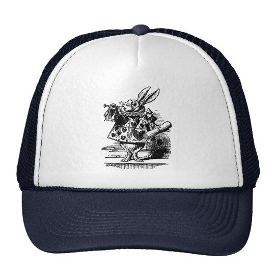 Vintage Alice in Wonderland White Rabbit as Herald Trucker Hat