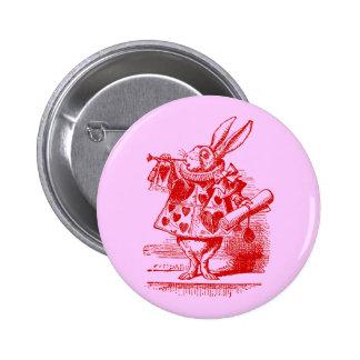 Vintage Alice in Wonderland White Rabbit Pinback Buttons