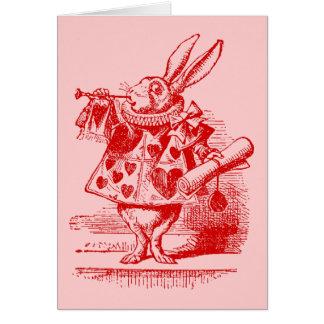 Vintage Alice in Wonderland White Rabbit Card