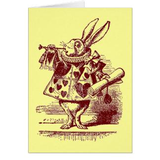 Vintage Alice in Wonderland White Rabbit Greeting Cards