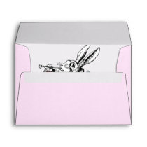 Vintage Alice in Wonderland White Rabbit Envelope