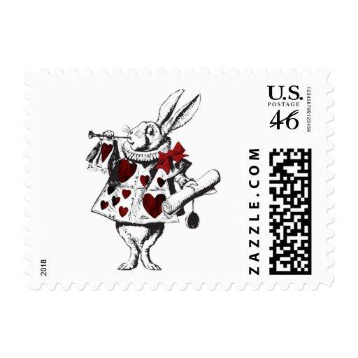 Vintage Alice in Wonderland White Rabbit Stamp