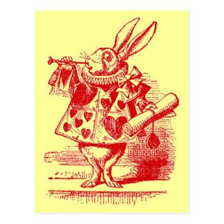 Vintage Alice in Wonderland White Rabbit Post Cards