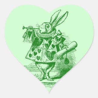 Vintage Alice in Wonderland White Rabbit Sticker