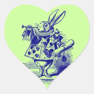 Vintage Alice in Wonderland White Rabbit Stickers