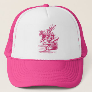 Vintage Alice in Wonderland White Rabbit Trucker Hat