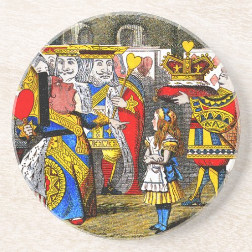 Vintage Alice In Wonderlnd Drink Coaster
