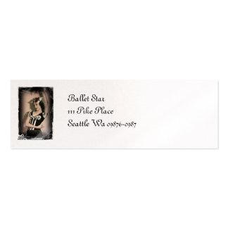 Vintage Alice inn Wonderland Ballet Business Card Templates