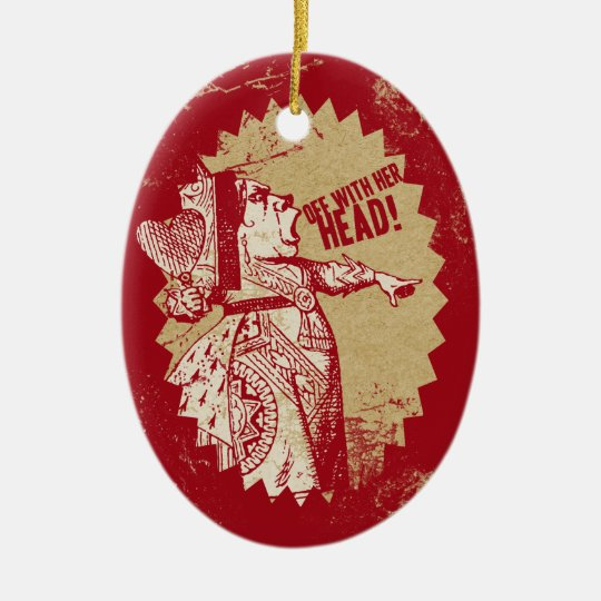 Vintage Alice Off With Her Head Ceramic Ornament