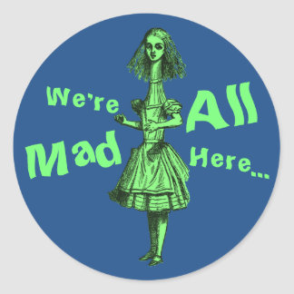 Vintage Alice Stretched in Wonderland Classic Round Sticker