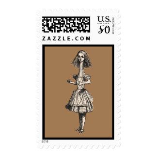 Vintage Alice Stretched in Wonderland Postage