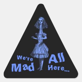 Vintage Alice Stretched in Wonderland Triangle Sticker