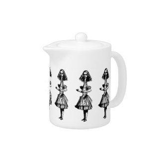 Vintage Alice Stretched in Wonderland Teapot