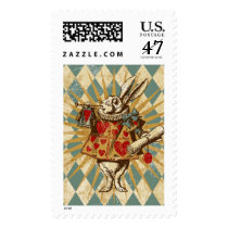 Vintage Alice White Rabbit Postage