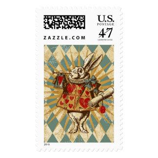 Vintage Alice White Rabbit Postage