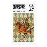 Vintage Alice White Rabbit Postage Stamp