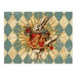 Vintage Alice White Rabbit Postcards