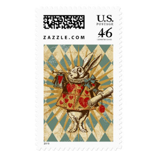 Vintage Alice White Rabbit Stamps