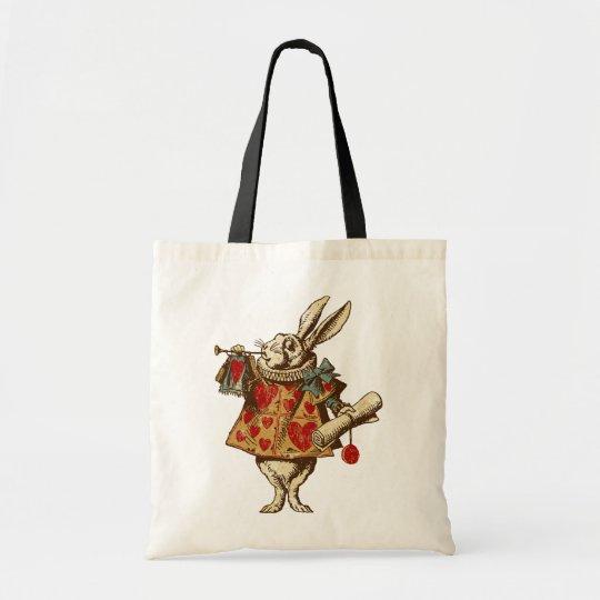 Vintage Alice White Rabbit Tote Bag