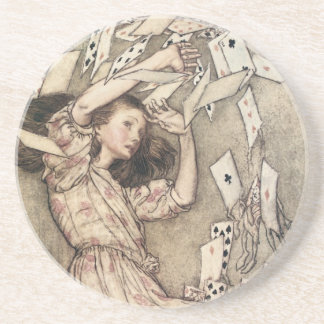 Vintage Alices Adventures in Wonderland by Rackham Drink Coaster